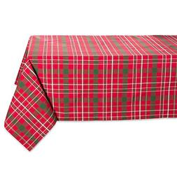 """Tartan Holly Plaid Square Tablecloth, 100% Cotton with 1/2"""""""