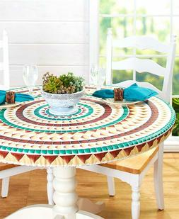 """Custom-Fit ROUND Table Covers Tablecloths for up to 48"""" - Mo"""
