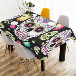 InterestPrint Custom Home Deco cool skulls Tablecloth Cotton