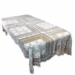 Dinning Kitchen Home Handmade Crochet Vintage Lace Table cov