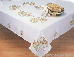 Easter Bunny Egg Spring Fabric Tablecloth Rectangular Round