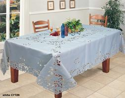 Creative Linens Embroidered Floral Tablecloth With Napkins W