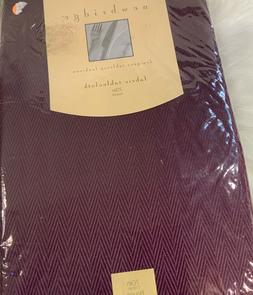 Newbridge Fabric Tablecloth 70 inch round burgundy NIP