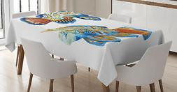 Ambesonne Fish Tablecloth Ambesonne 3 Sizes Rectangular Tabl