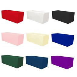 Fitted Polyester Tablecloth Rectangular Table Cover Banquet