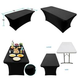 Fitted Tablecloth Elastic Cloth Linen For Rectangle Folding