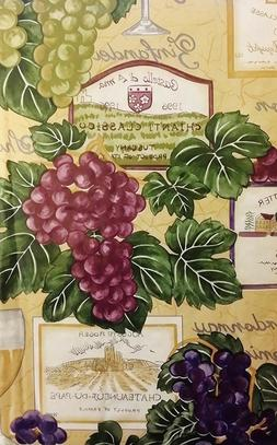 tuscan grapes flannel back vinyl tablecloths assorted