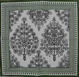 India Arts French Country Floral Print Napkin Square Cotton