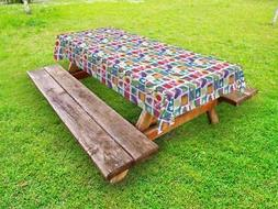 Fresh Produce Outdoor Picnic Tablecloth in 3 Sizes Washable