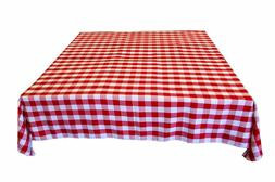 Gingham/Checkered Cotton Blend Italian Restaurant Style Tabl