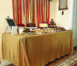 gold rectangle tablecloth for wedding party cake