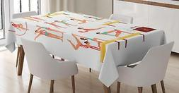 Gymnastics Tablecloth Ambesonne 3 Sizes Rectangular Table Co