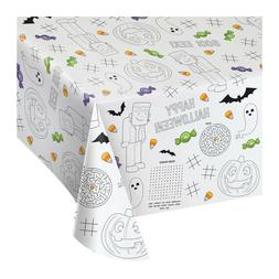 Halloween Paper Activity Tablecloth 3 Count