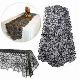 Halloween Spider Web Table Cloth Decor Polyester Lace Table