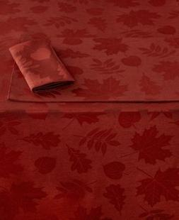 """Homewear Harvest Berkshire Leaves Collection Spice 60"""" x 104"""