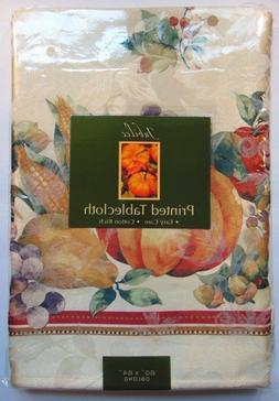 """Harvest Thanksgiving Tablecloth 60 x 84"""" Oblong Halloween by"""