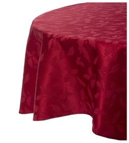 """LENOX HOLLY DAMASK TABLECLOTH Round 70"""" Red NWT Retail $70"""