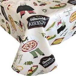 Newbridge Italian Bistro Chef Vinyl Flannel Backed Tableclot