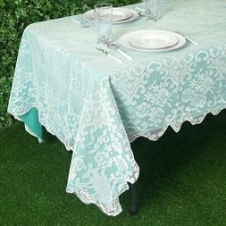 IVORY 60x108 RECTANGLE Floral LACE TABLECLOTH Wedding Party