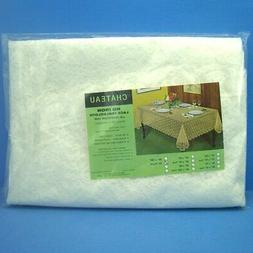 K558D Chateau No Iron Lace Tablecloth W/Polyethylene Liner 7