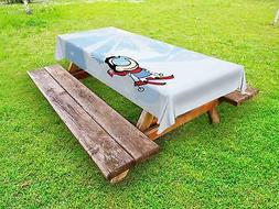 Kids Sports Outdoor Picnic Tablecloth in 3 Sizes Washable Wa