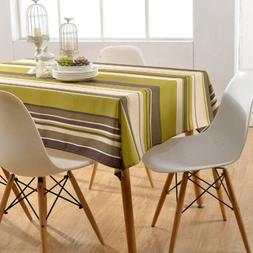 Kitchen Waterproof Dining Tablecloths Folding Washable Recta