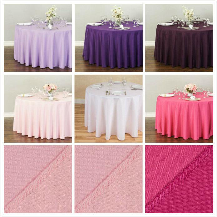 LinenTablecloth in. Round Polyester Tablecloths, Colors!