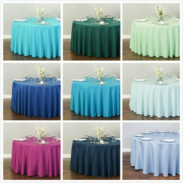 LinenTablecloth 132 in. Round Polyester Tablecloths, 33 Colors! Wedding