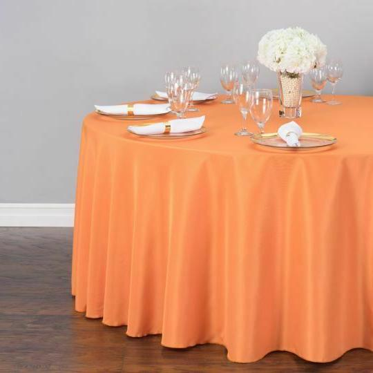 LinenTablecloth 132 in. Round Polyester Wedding Event