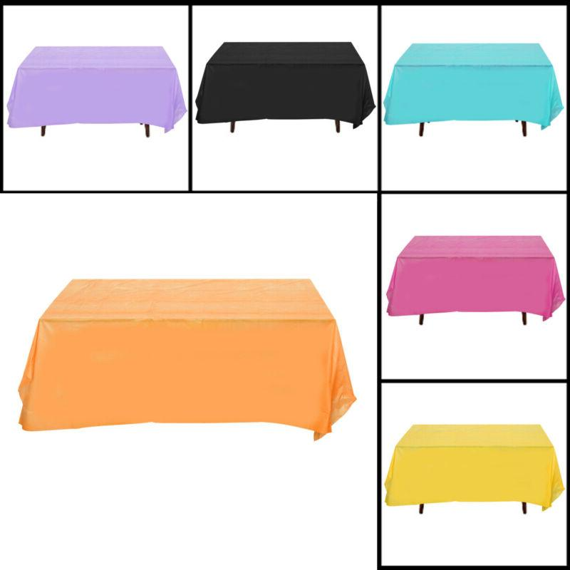1pc Tablecloth Disposable Waterproof Rectangle Table Cover for Event