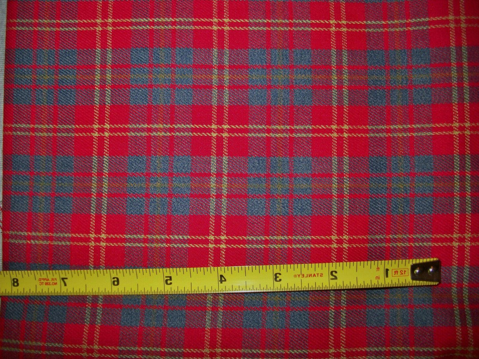 2 Yards Wide Red & Plaid