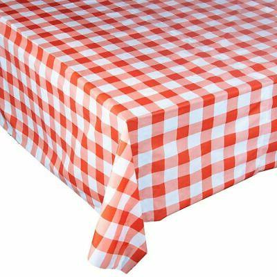 """54"""" Plastic Party Table Cover Disposable Tablecloths Red"""