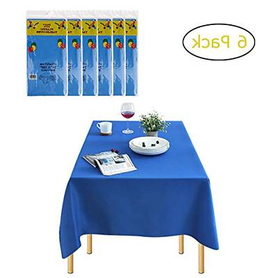 6 pack rectangle disposable plastic tablecloths