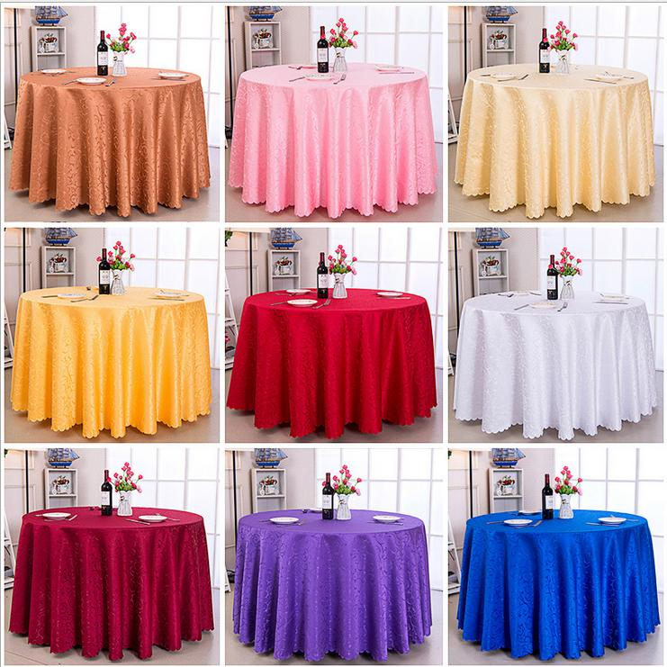 60 120 round polyester tablecloth cover