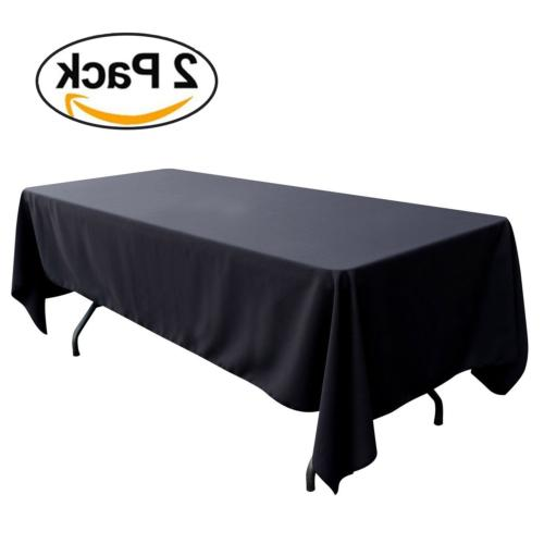 GFCC 60 x 102 -Inch Polyester Rectangle Table Cover- 2 Packa