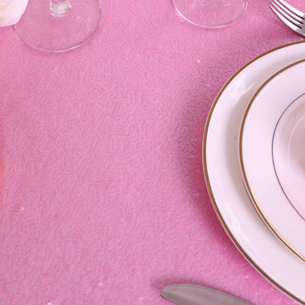 """60""""x102"""" Tablecloth Sparkly Sequin Table Cover"""