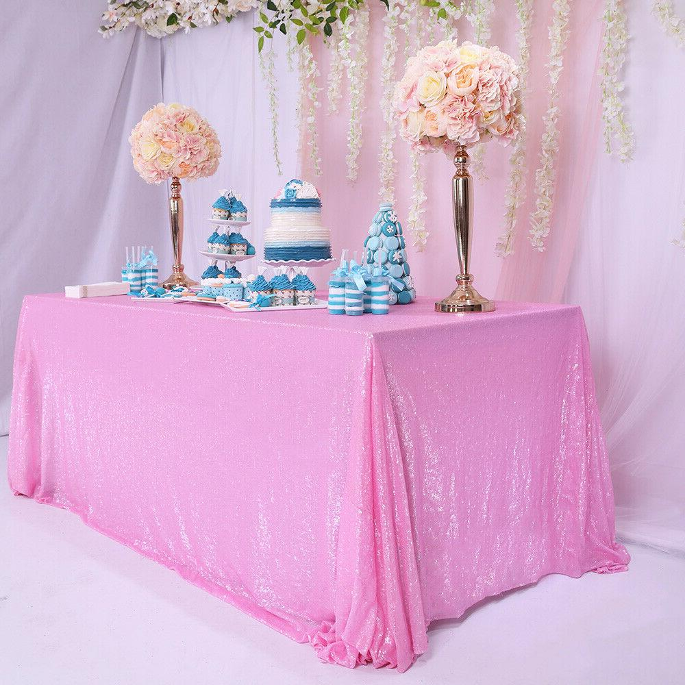 """60""""x102"""" Pink Tablecloth Cover Home Decor"""