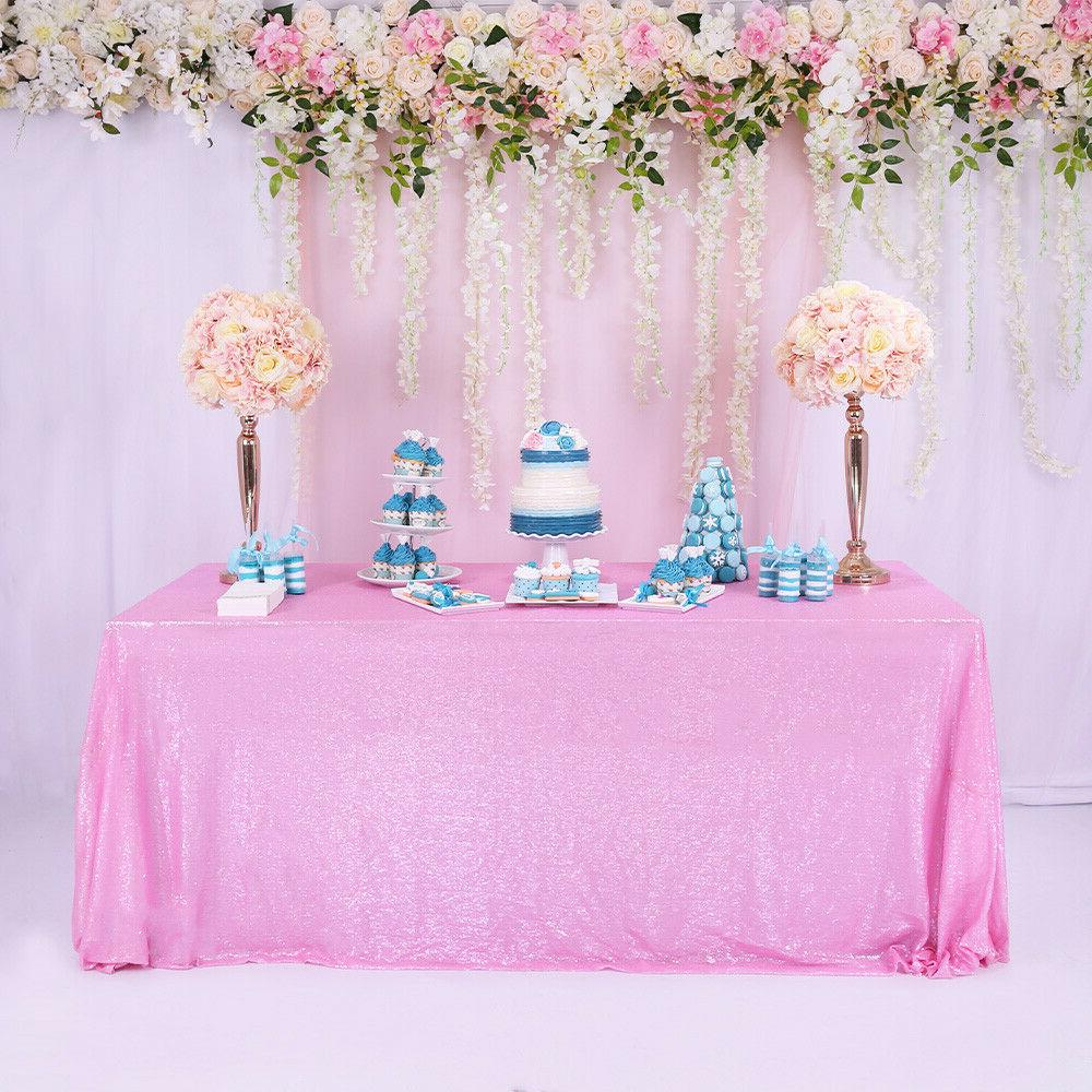 60 x102 pink sequin tablecloth sequin table