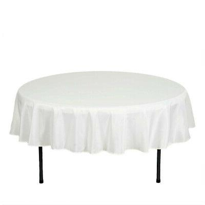 70-Inch Ivory Polyester Tablecloth Table for