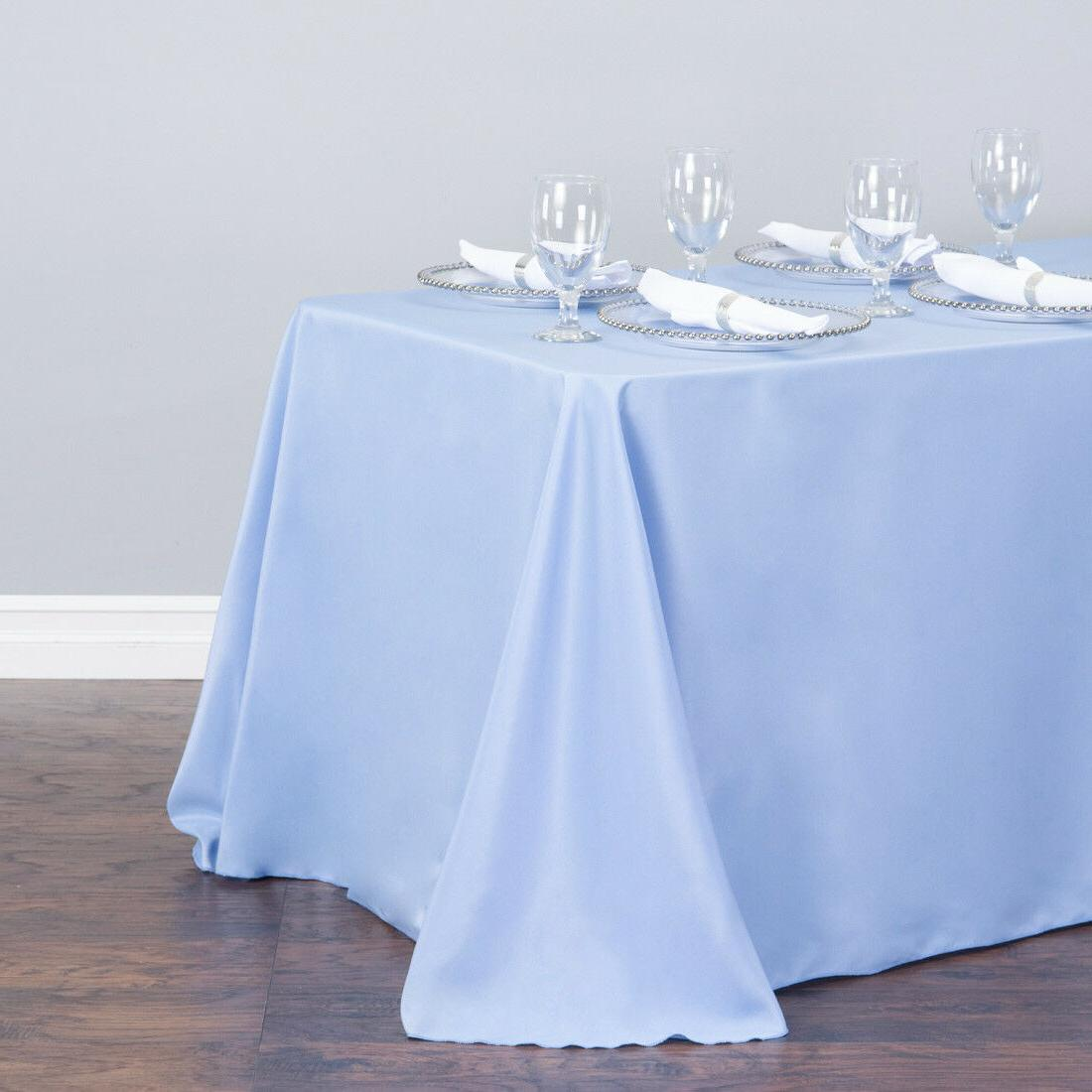 LinenTablecloth 90 x 156 in. Rect Color! Wedding Event