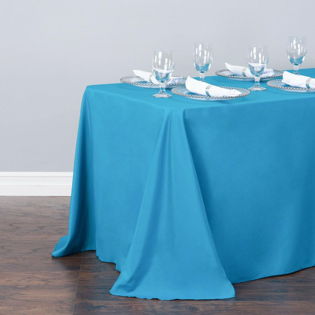LinenTablecloth 90 x 156 in. Tablecloths,33 Color! Wedding Event