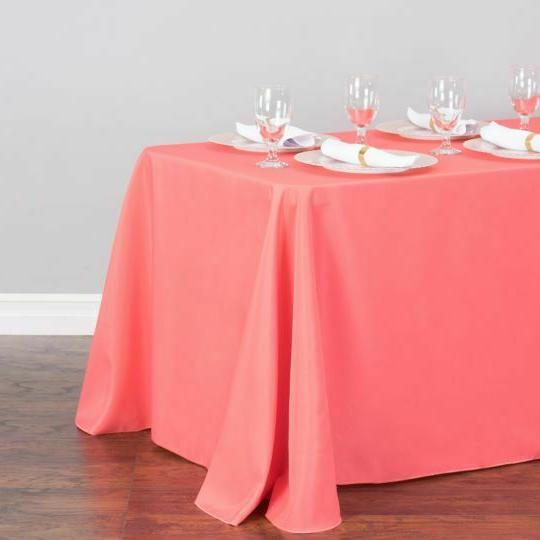 LinenTablecloth 90 x 156 in. Poly Color!