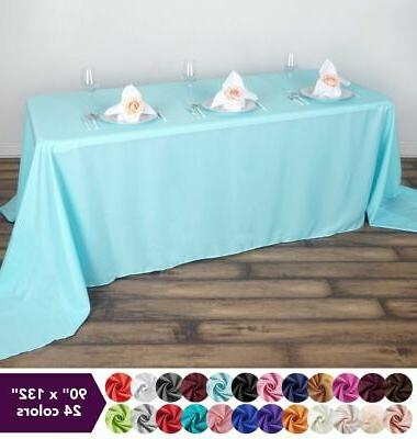 90 x132 polyester tablecloth wedding party table