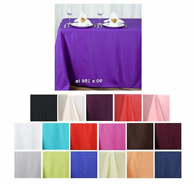 90x156 polyester rectangle tablecloths