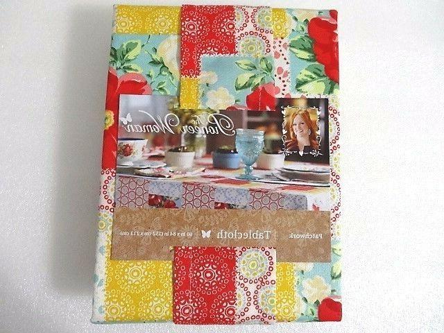 NEW Pioneer Woman Patchwork Tablecloth Vintage Floral Table