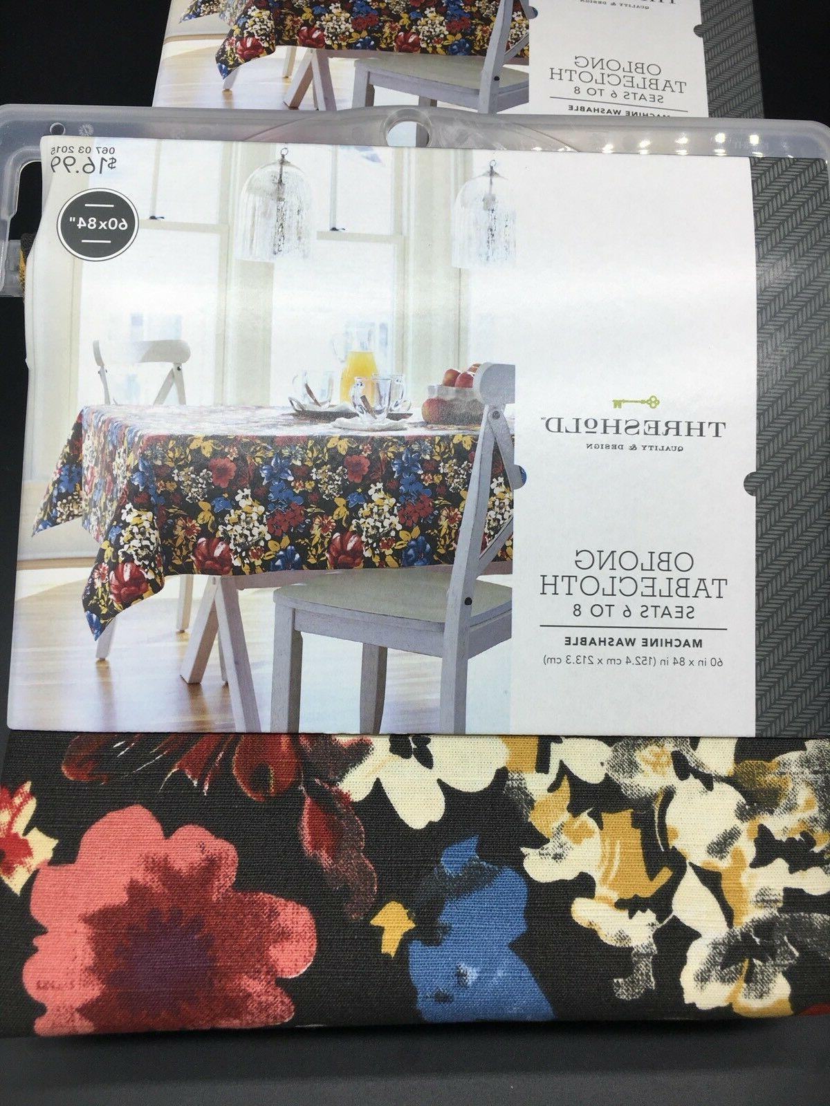 Threshold ~ Oblong x Tablecloth Kitchen Table Cloth Fabric NEW
