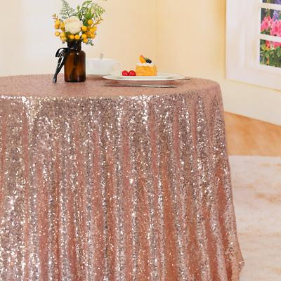 Trlyc Gold Sequin Tablecloth Sparkly Table Cover