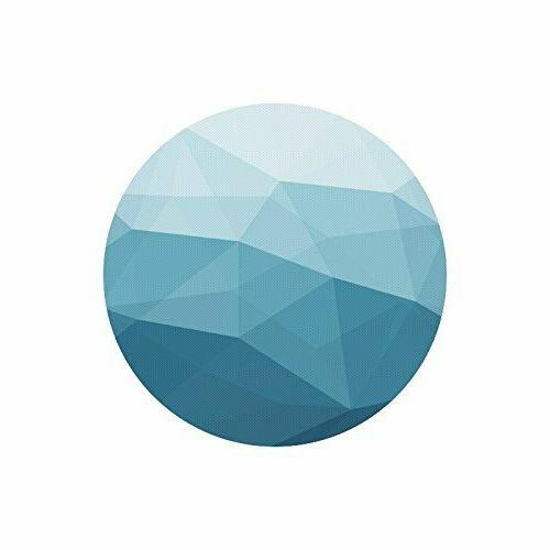 abstract geometric triangle blue mosaic round non