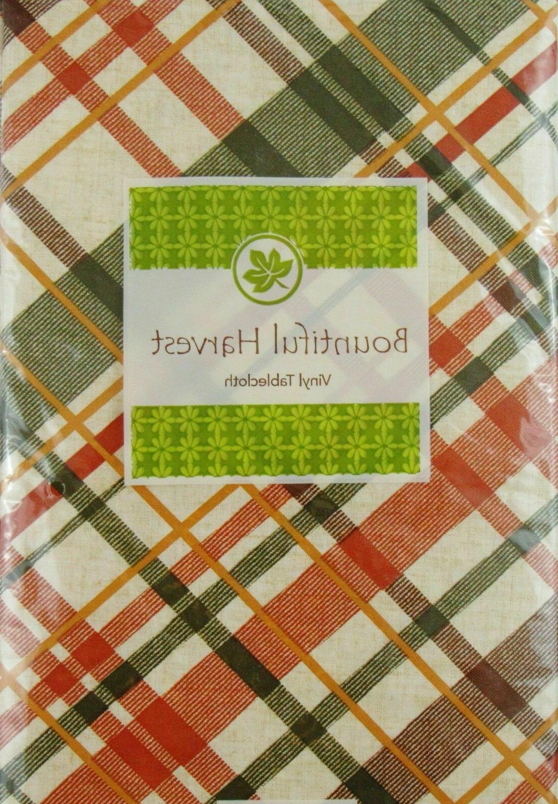 Assorted Shades of Autumn Plaid Vinyl Backed