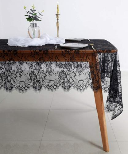 B-COOL Tablecloth 60x120 Wedding Lace Tablecloth 5 Pack